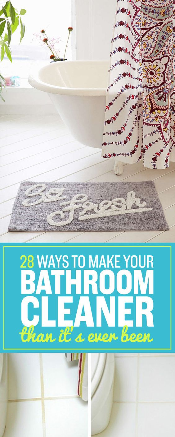 28 ways bathroom cleaner