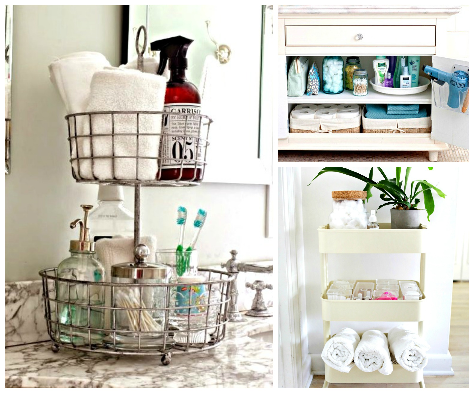 9 super clever ways to create extra space in your tiny for Small bathroom hacks