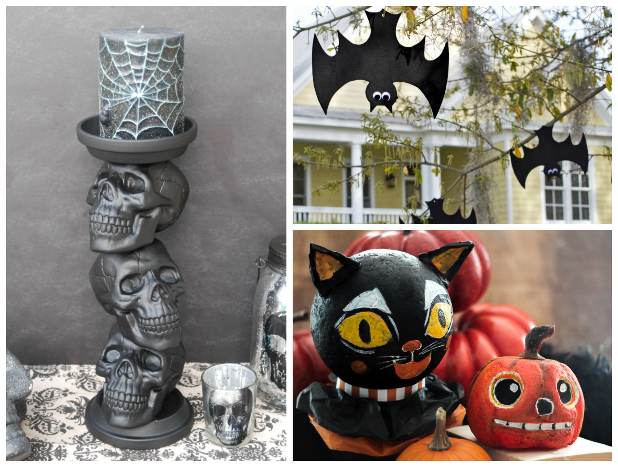 10 super easy dollar store halloween diy decor ideas. Black Bedroom Furniture Sets. Home Design Ideas