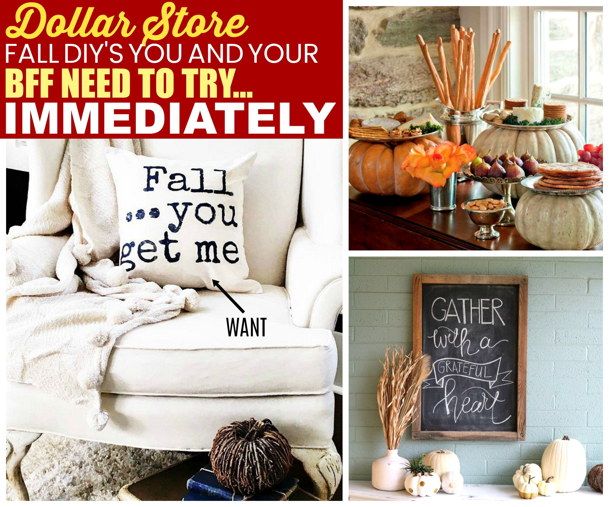 10 Diy Fall Decor Ideas You Can Do With Items From The Dollar Store